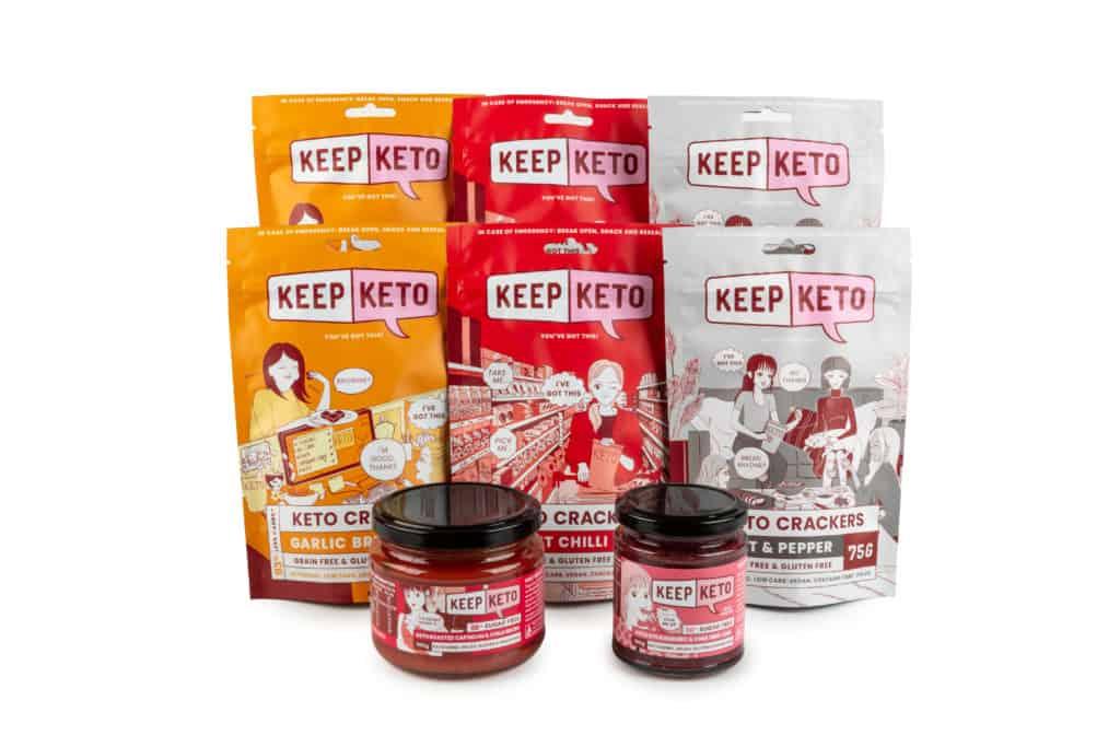 keto crackers and jam