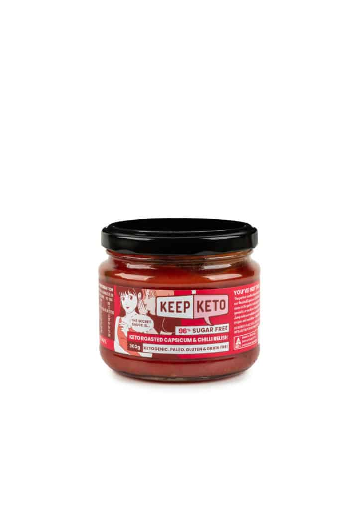 keto roasted capsicum & chilli relish