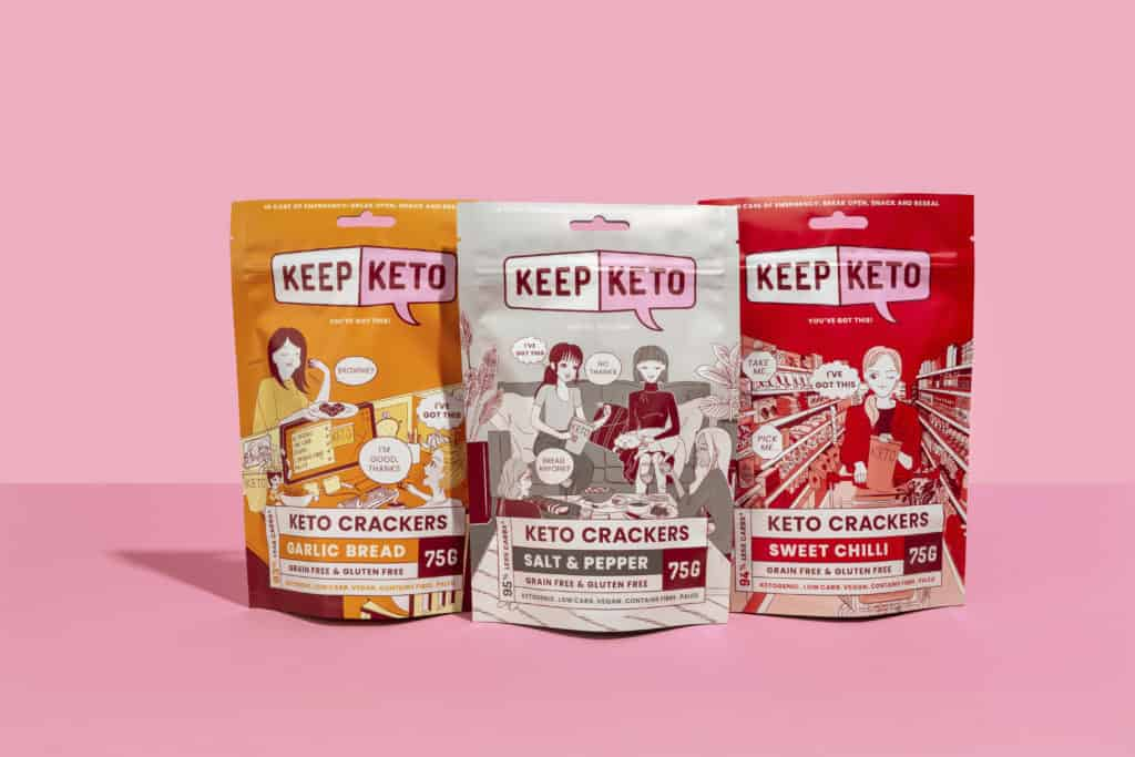 x3 pack Keto Crackers