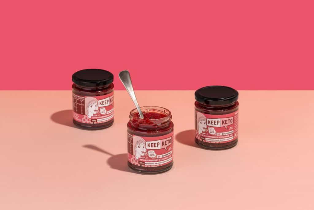 Keep Keto Strawberry and Chia Jam