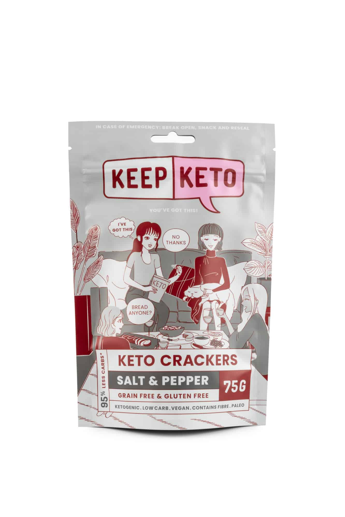 salt & pepper keto crackers