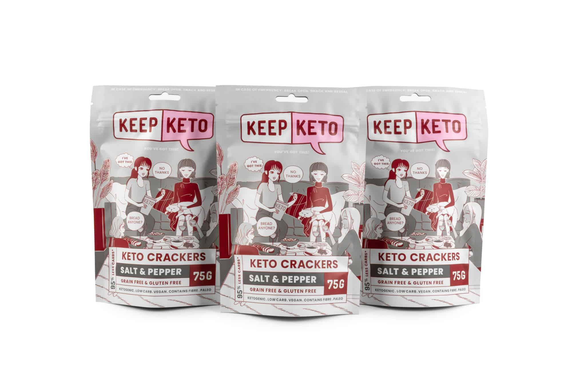salt & pepper keto crackers